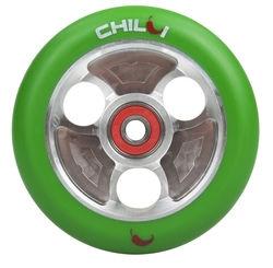 CHILLI Parabol 100 mm green / silver castor