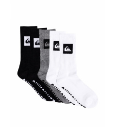 Ponožky Quiksilver 5 Pack Crew ast 2021/22 vell.40-45