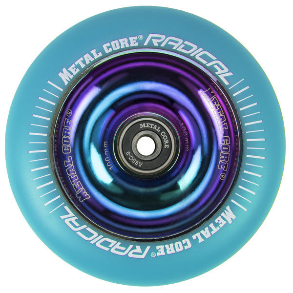 Metal Core Radical Regenbogen 110 mm blaues Rad