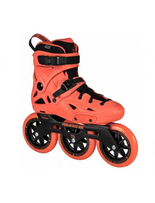 Powerslide Imperial Megacruiser 125 Neon Orange Roller Skates