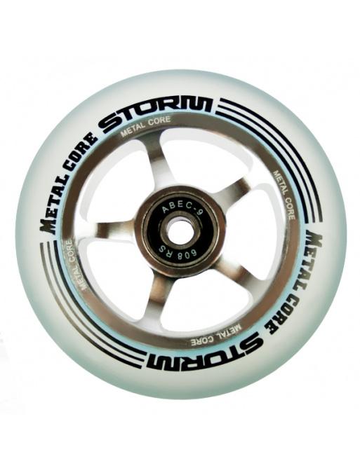Metal Core Storm 100 mm castor transparent
