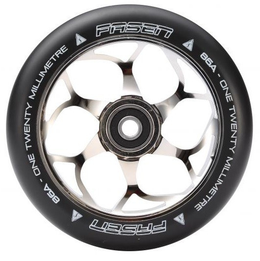 Fasen 120 mm kolečko stříbrno černé