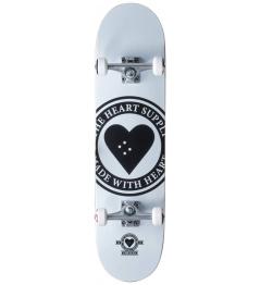 """Skateboard Heart Supply Logo 8.25"""" Badge White"""