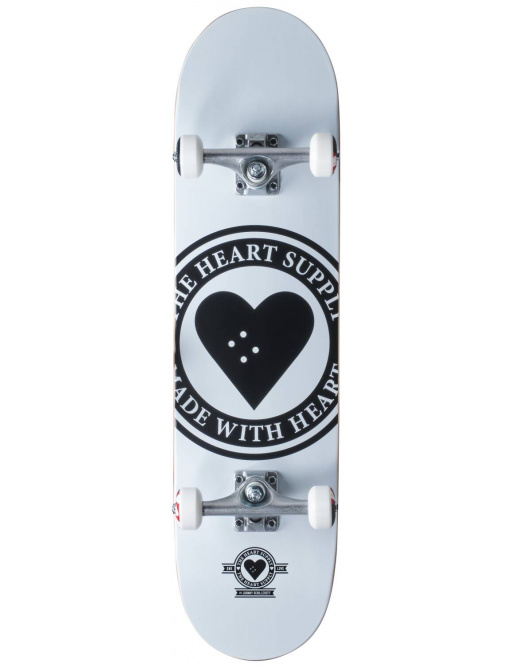 "Skateboard Heart Supply Logo 8.25"" Badge White"