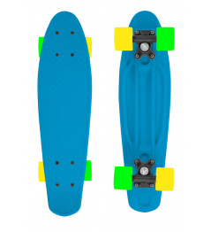 Skateboard FIZZ BOARD Blue, Orange PU, modrý