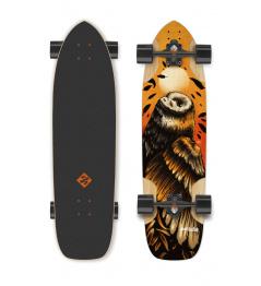 "Longboard Street Surfing FREERIDE 36"" Owl - artist series"