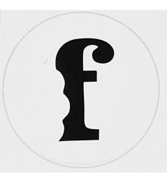 Samolepka Flavor F Bílá