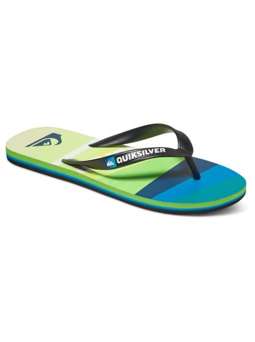 Flip Flops Quiksilver Molokai Slash Logo Flip Flops black / green 2017 vell.EUR44 \ t