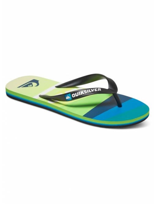 Žabky Quiksilver Molokai Slash Logo Flip Flops black/green/blue 2017 vell.EUR44