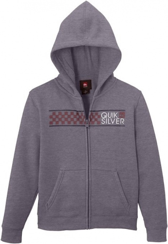 Mikina Quiksilver Hood Zib God 024 kpwh medium grey heather 2014/15 dětská vell.XL/14let/