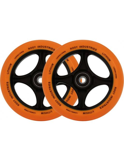 Root Lithium Kolečka Na Koloběžku 2-Balení (120mm   Oranžová)