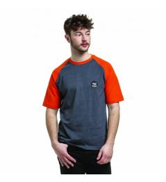 Triko Nugget Asset C heather steel/red orange 2019 vell.M