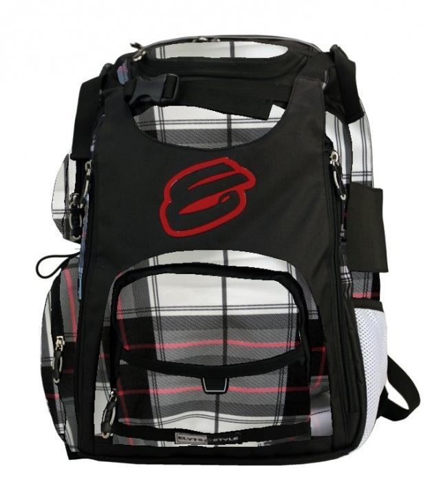 Elyts Plaid white backpack