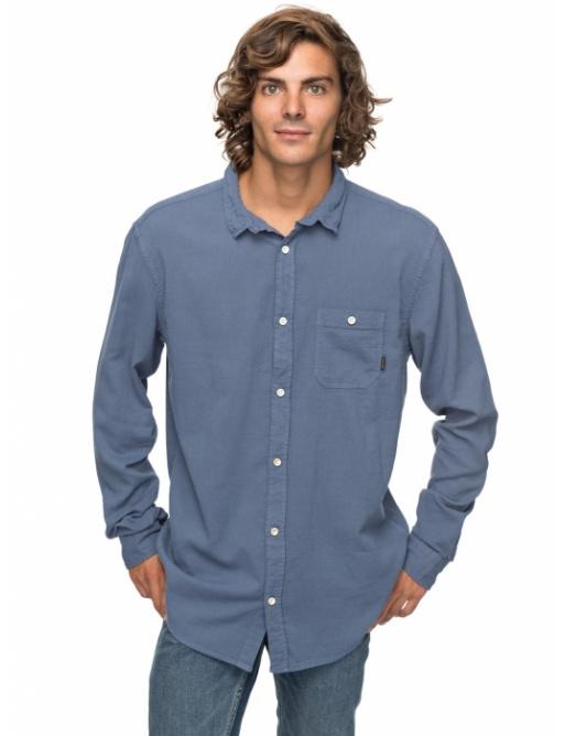 Košile Quiksilver New Time Box 633 byl0 vintage indigo 2018 vell.M