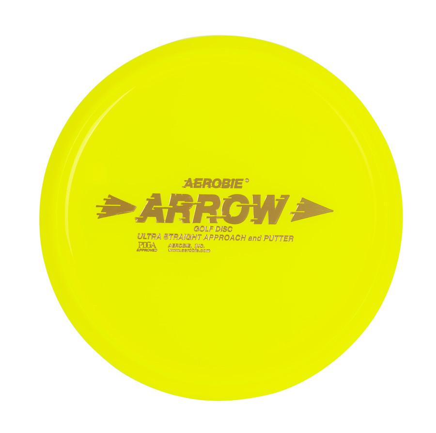 Létající talíř Aerobie ARROW žlutý, disc golf