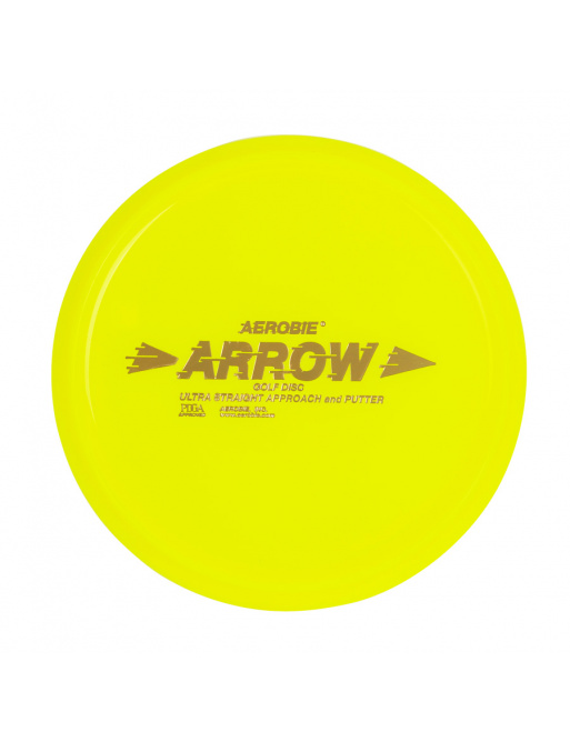 ARROW Aerobie Flying Plate yellow, disc golf