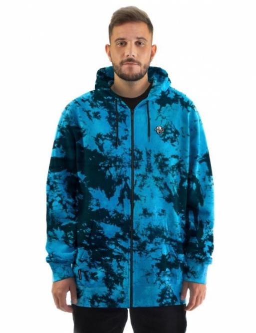 Mikina Horsefeathers Joshua blue tie dye 2021 vell.L