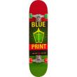 "Skateboard Blueprint Pachinko V2 7.75"" Rasta"