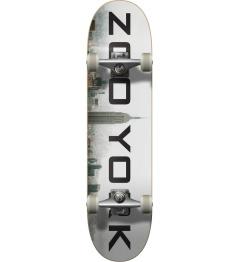 "Zoo York Logo Block Complete Skateboard (7.75"" | Fog)"