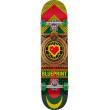 "Skateboard Blueprint Home Heart 7.625"" Rasta"
