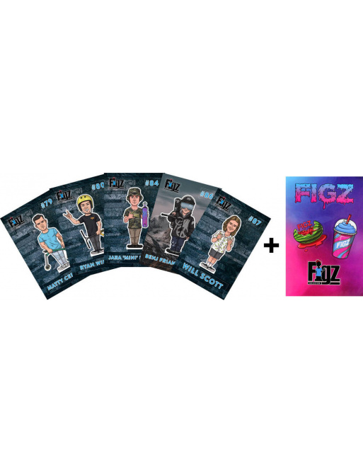 Samolepky Figz Collectors Scooter Sticker 6-Pack Pack 1
