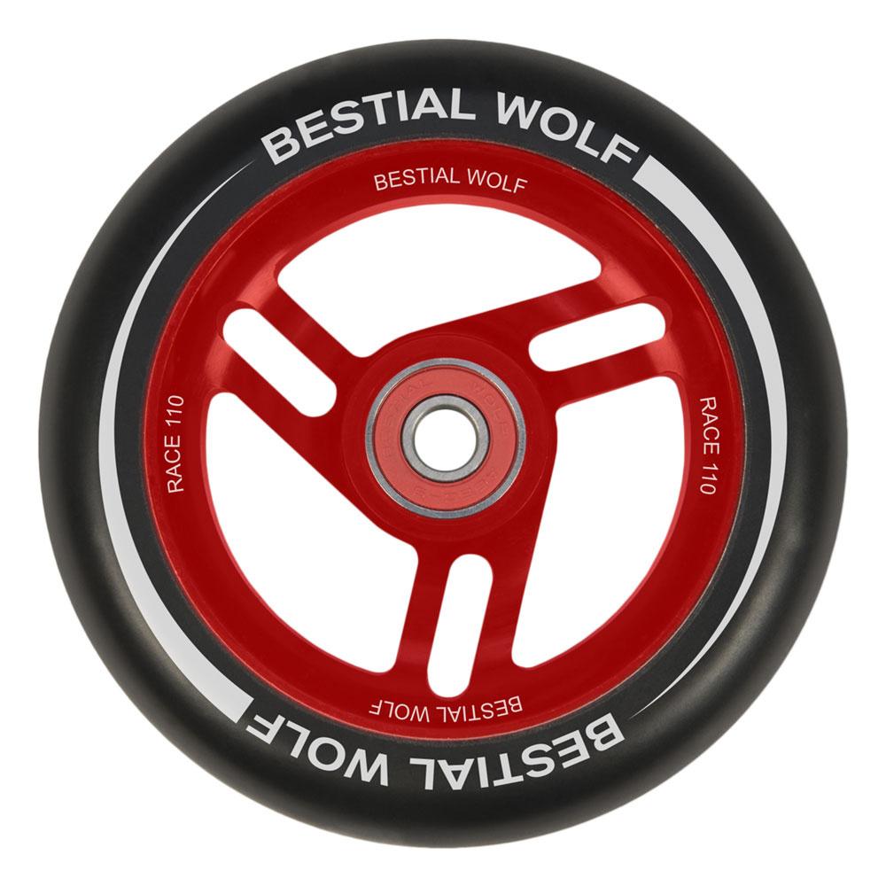 Bestial Wolf Race 110 mm wheel black-red
