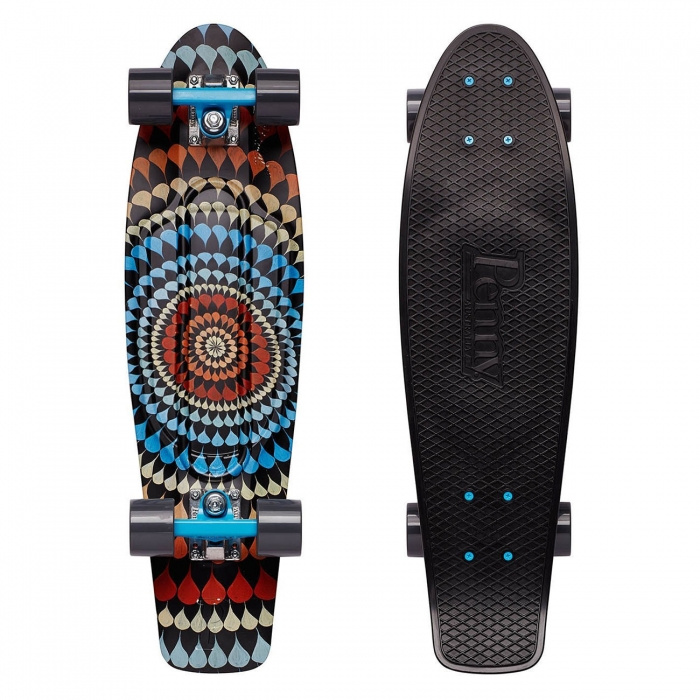 """Cruiser Penny Graphics 27"""" Mitch King ripple vell.22"""