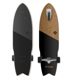"Longboard Street Surfing SHARK ATTACK 36"" Koa Black"