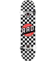 "Skateboard RAD Dude Crew  7.75"" Checkers"