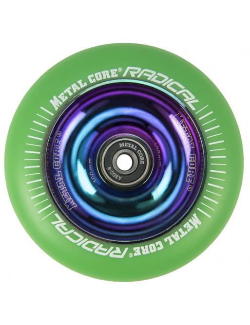 Metal Core Radical Rainbow 110 mm kolečko zelená