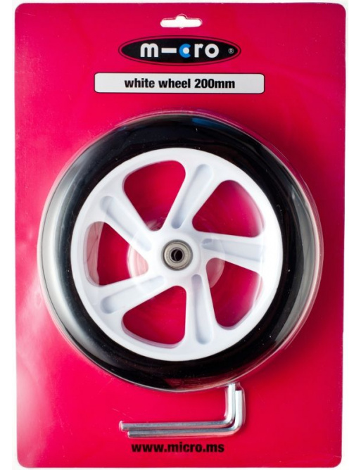 Kolečko Micro 200 mm White
