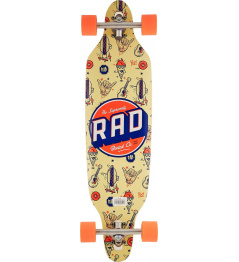 "Longboard RAD 36"" Wallpaper Orange"