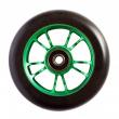 Blunt 10 Spokes 100 mm černo zelené kolečko