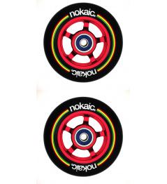 Kolečka Nokaic 100mm BLACK/RED 2ks