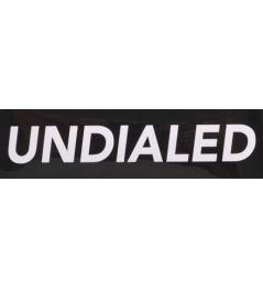 Samolepka Undialed Logo černá