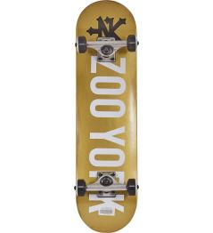 """Skateboard Zoo York Logo 7.5"""" Gold"""
