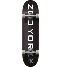"Zoo York Logo Block Complete Skateboard (8""   Černá/Bílá)"