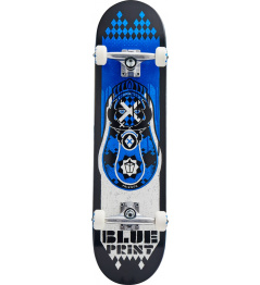 "Skateboard Blueprint Babushka V2 8"" Blue"