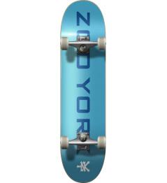 """Skateboard Zoo York OG 95 Logo Block 8"""" Blue/White"""