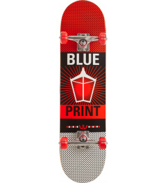 "Skateboard Blueprint Pachinko V2 8"" Red"