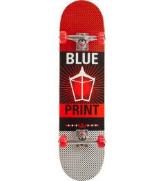 "Skateboard Blueprint Pachinko V2 8"" Red"