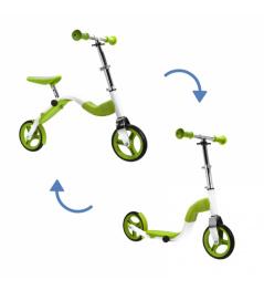 Scooter Scoobik y reflector en un solo color verde