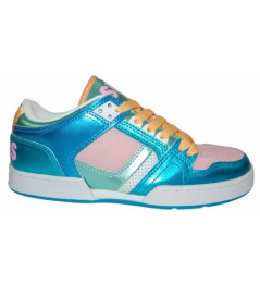 Boty Osiris NYC 83 LOW 10 W.blue/pink/white vell.UK6,5