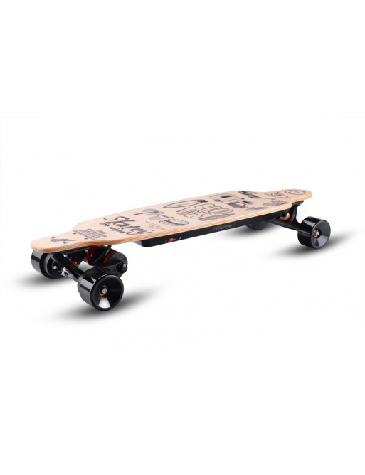 Electric longboard Skatey 3200L wood art