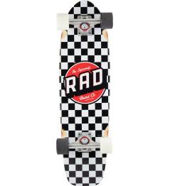 """Longboard RAD Retro Roller Cruiser 28"""" Checkers"""