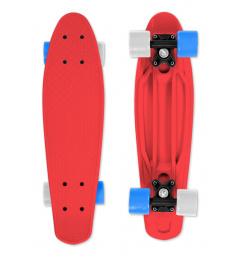 Skateboard FIZZ BOARD Red, Blue-White PU, červený