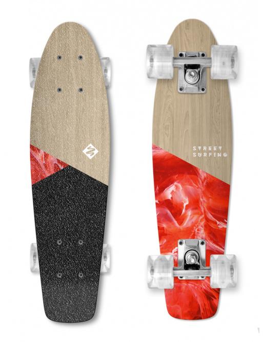 Skateboard Street Surfing