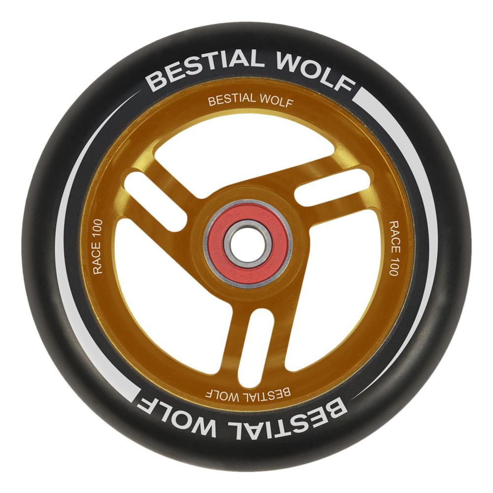 Bestial Wolf Race 100 mm round black orange