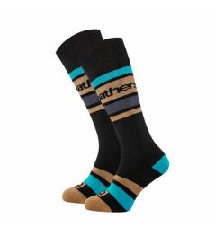 Ponožky Horsefeathers Mace black 2020/21 vell.8-10