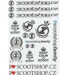 Scootshop.cz A4 pegatinas